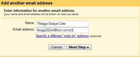 Envie mensagens de outro endereço através do Gmail
